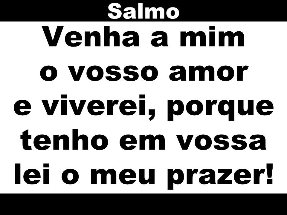Salmo Venha a mim o vosso amor e viverei, porque tenho em vossa lei o meu prazer!