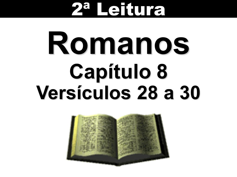 2ª Leitura Romanos Capítulo 8 Versículos 28 a 30