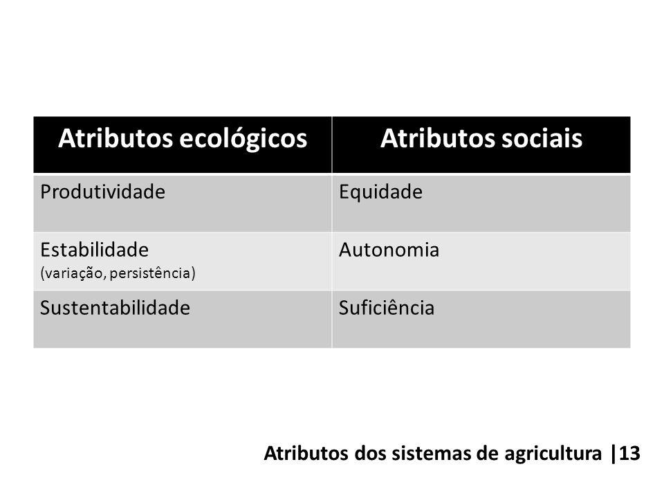 Atributos dos sistemas de agricultura |13