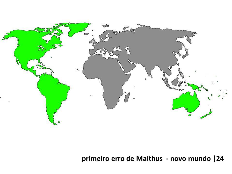 primeiro erro de Malthus - novo mundo |24