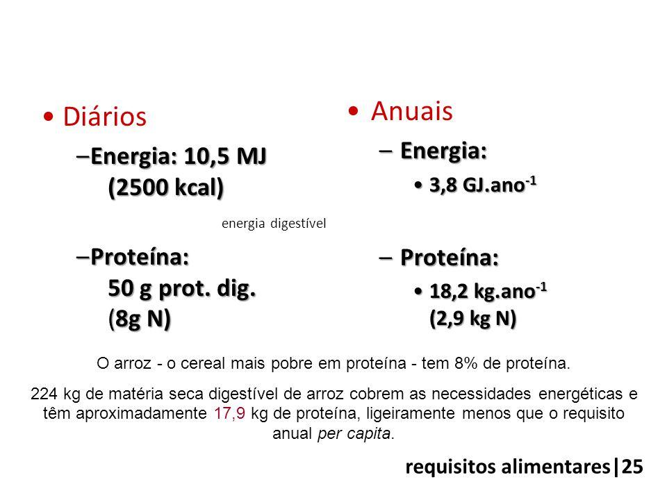 O arroz - o cereal mais pobre em proteína - tem 8% de proteína.