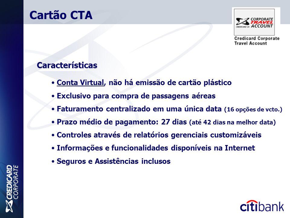 Cartão CTA Características