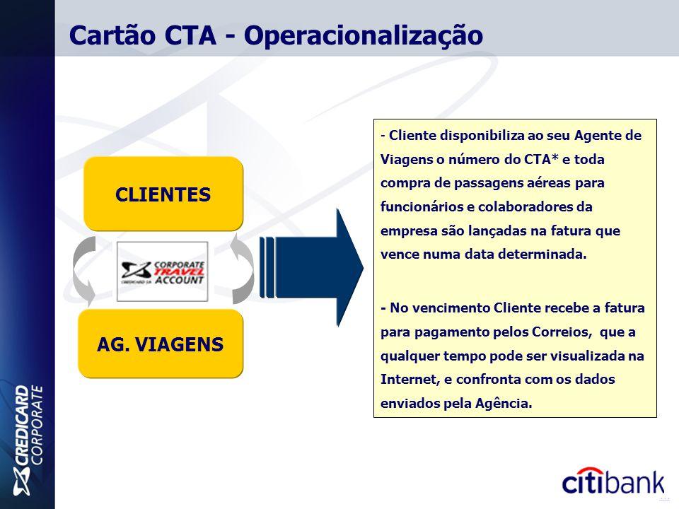 Cartão CTA - Operacionalização