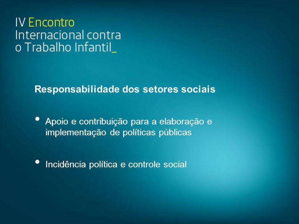 Responsabilidade dos setores sociais