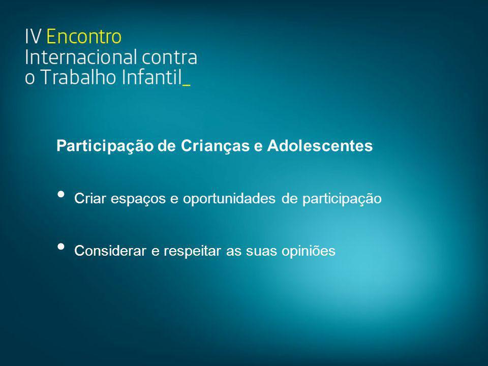 Participação de Crianças e Adolescentes