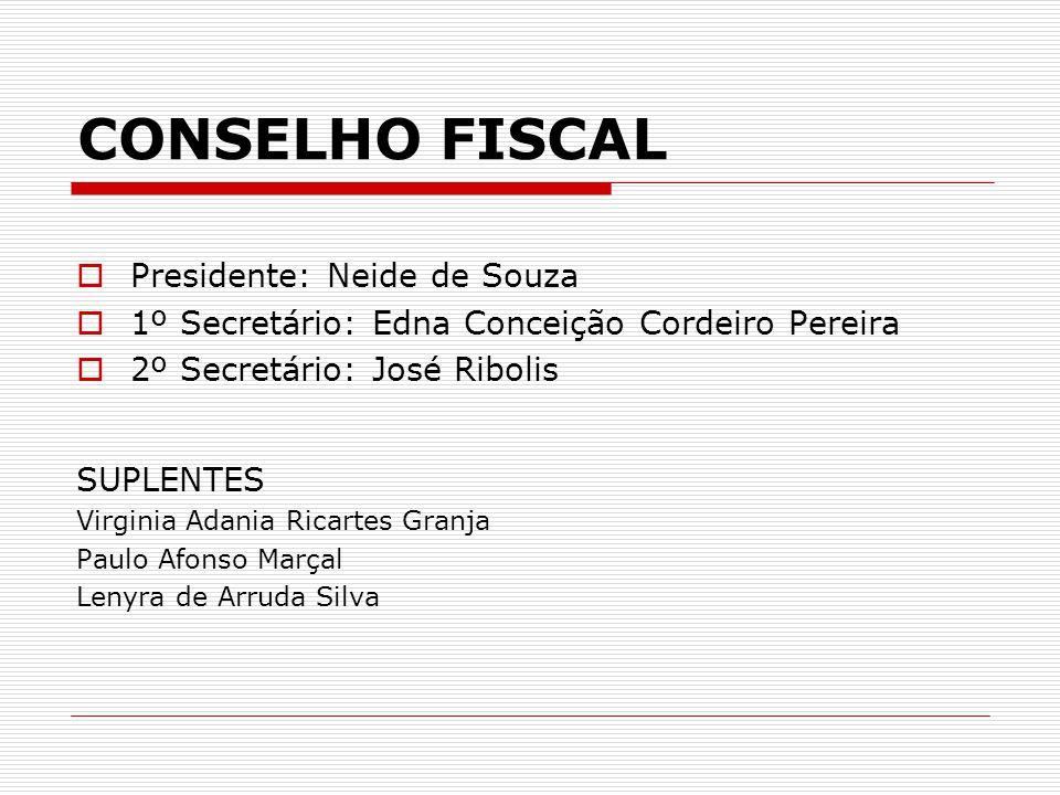 CONSELHO FISCAL Presidente: Neide de Souza