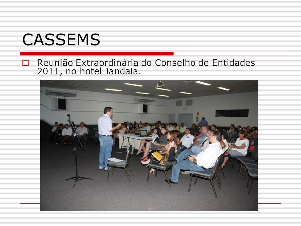 CASSEMS Reunião Extraordinária do Conselho de Entidades 2011, no hotel Jandaia.