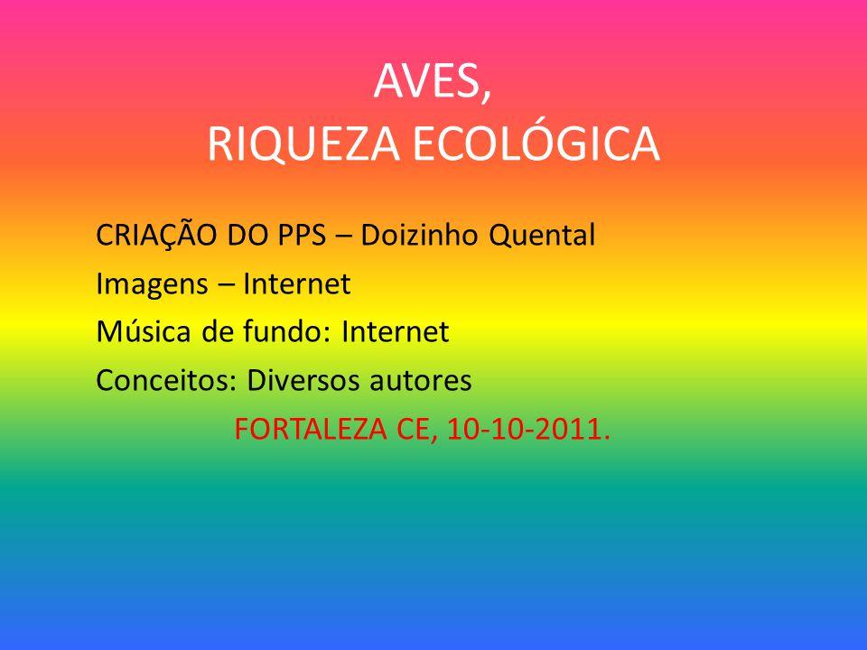 AVES, RIQUEZA ECOLÓGICA