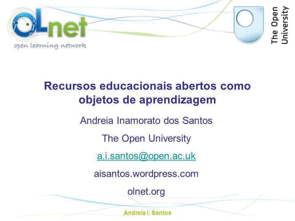 Recursos educacionais abertos como objetos de aprendizagem