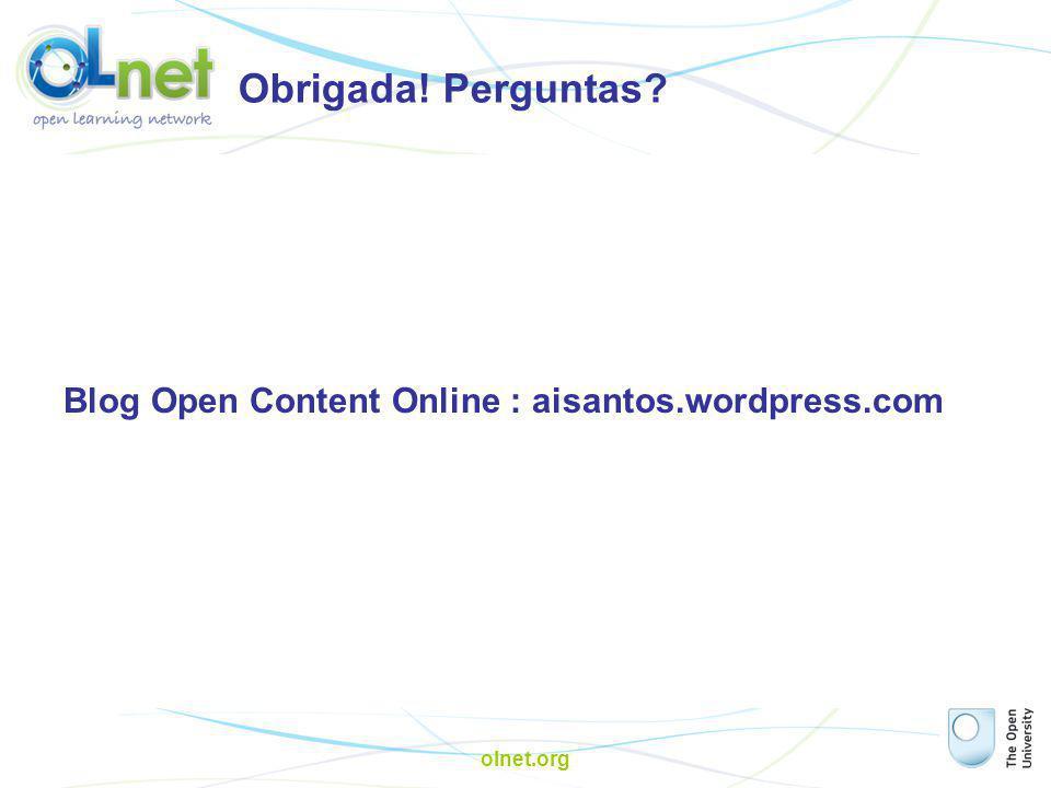 Obrigada! Perguntas Blog Open Content Online : aisantos.wordpress.com