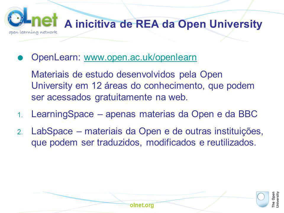 A inicitiva de REA da Open University