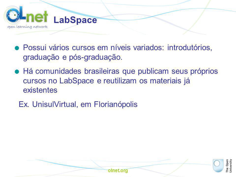 LabSpace Possui vários cursos em níveis variados: introdutórios, graduação e pós-graduação.