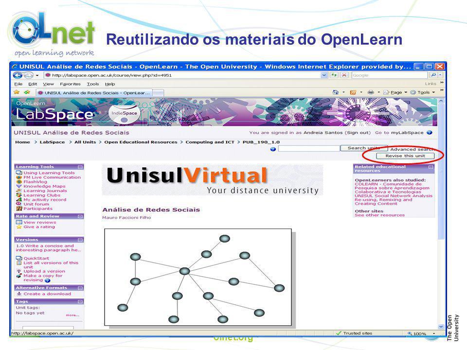 Reutilizando os materiais do OpenLearn