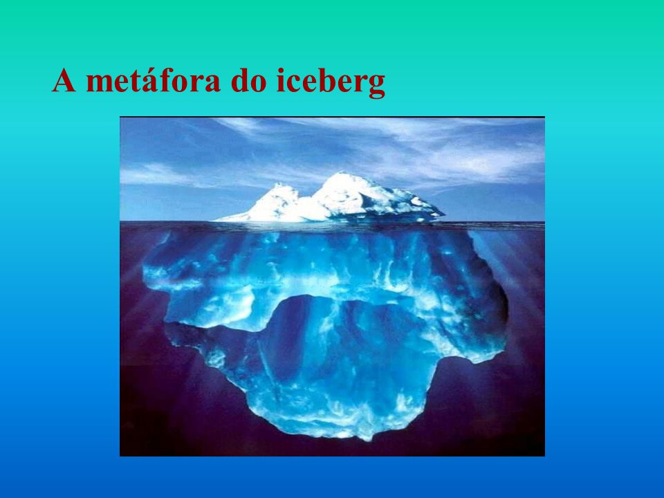 A metáfora do iceberg