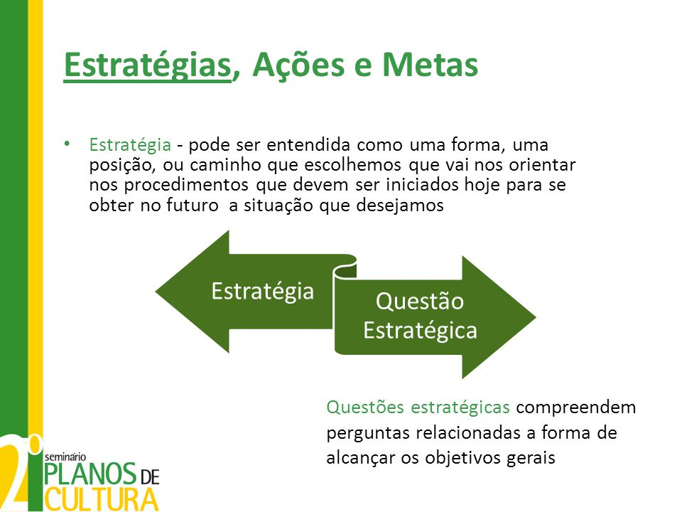 Estratégias, Ações e Metas
