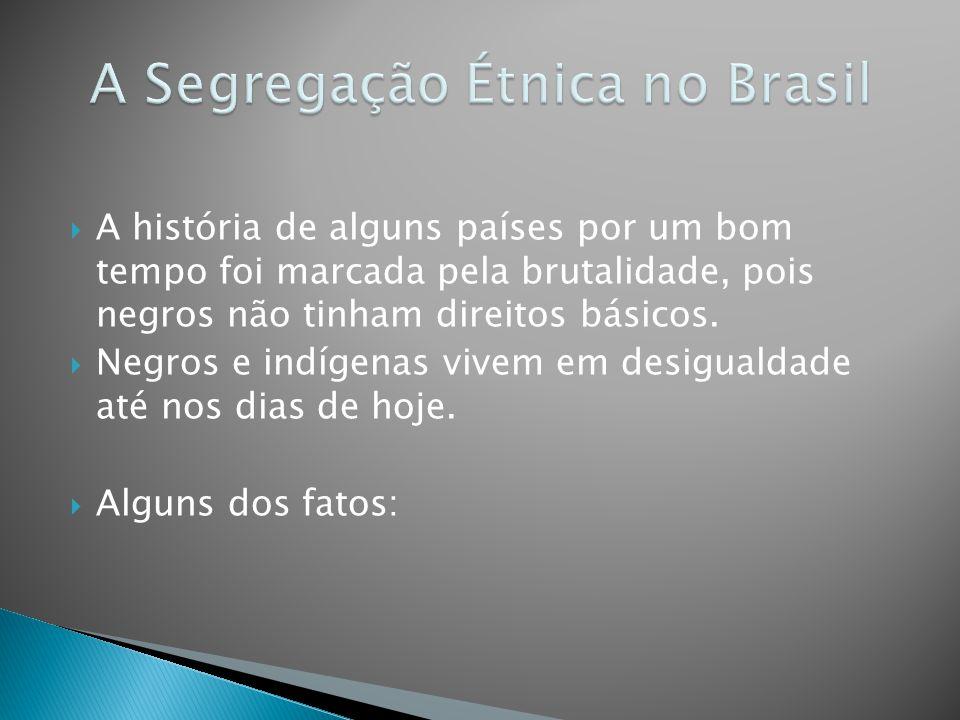 A Segregação Étnica no Brasil