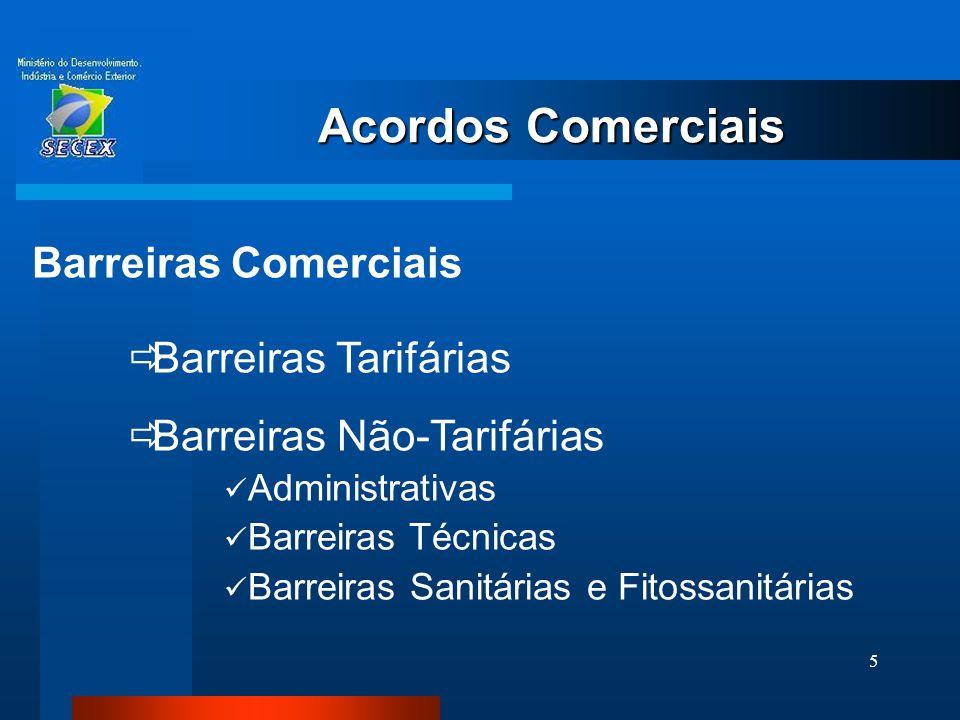 Acordos Comerciais Barreiras Comerciais Barreiras Tarifárias
