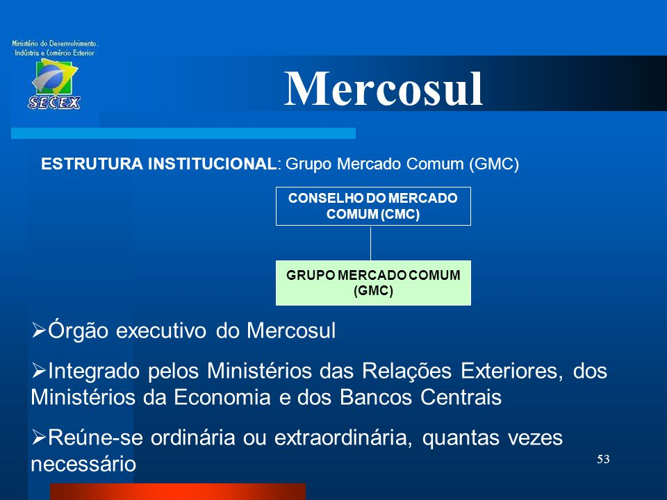 CONSELHO DO MERCADO COMUM (CMC) GRUPO MERCADO COMUM (GMC)