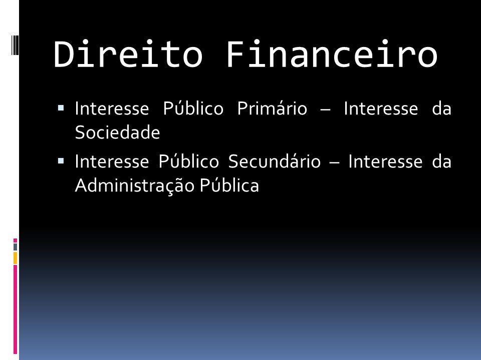 Direito Financeiro Interesse Público Primário – Interesse da Sociedade