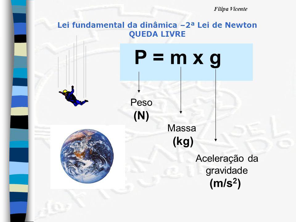 Lei fundamental da dinâmica –2ª Lei de Newton QUEDA LIVRE