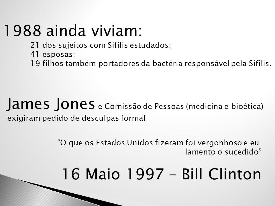 James Jones e Comissão de Pessoas (medicina e bioética)