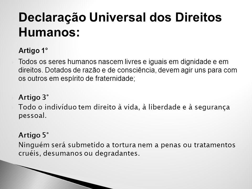 Declaração Universal dos Direitos Humanos: Artigo 1°