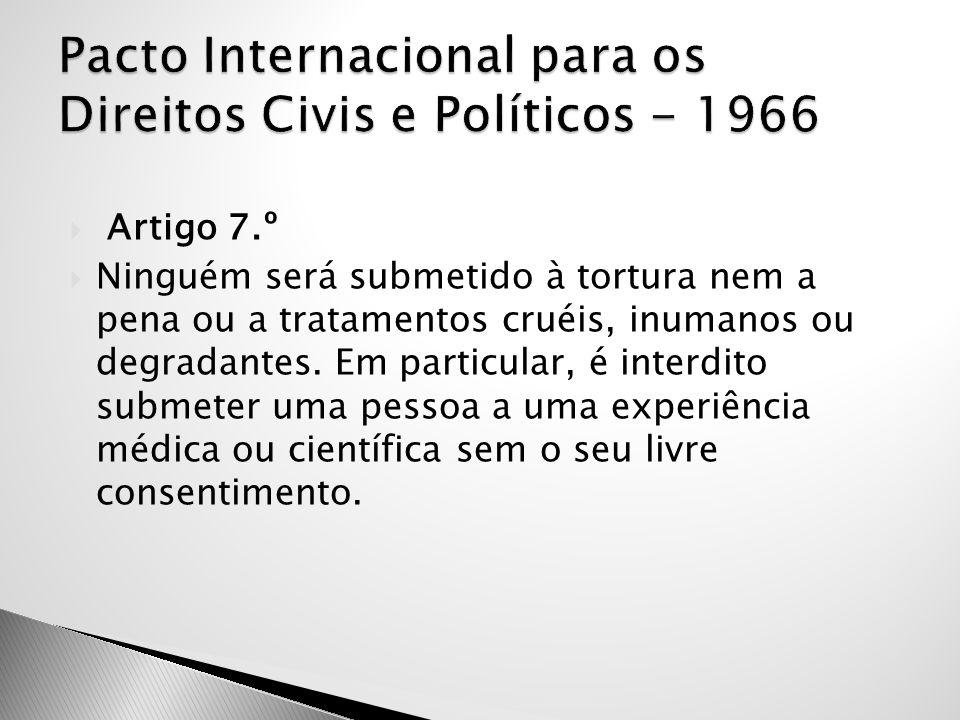Pacto Internacional para os Direitos Civis e Políticos - 1966