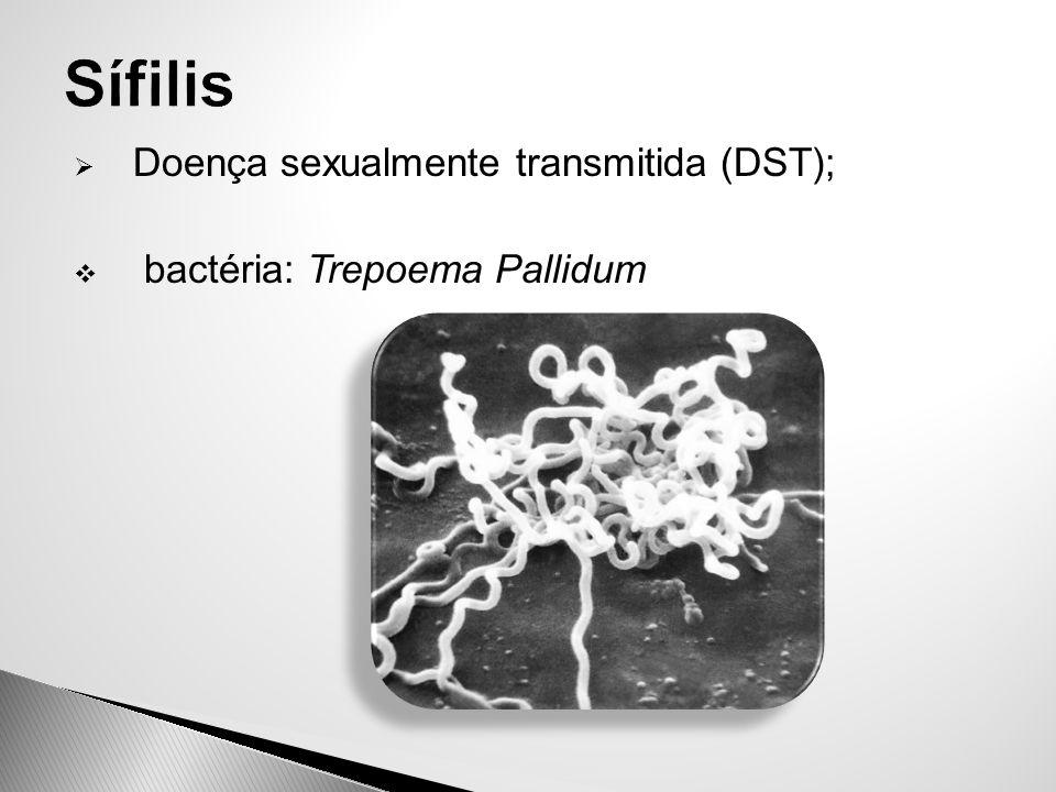 Sífilis Doença sexualmente transmitida (DST);