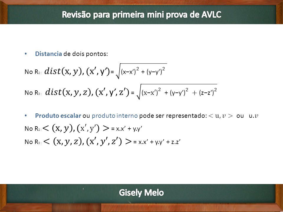Revisão para primeira mini prova de AVLC