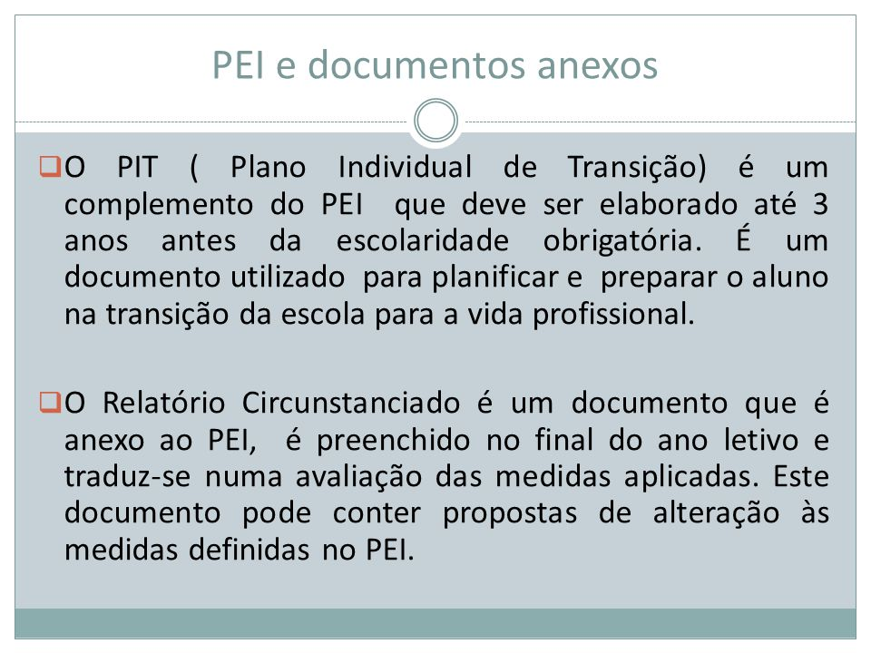PEI e documentos anexos