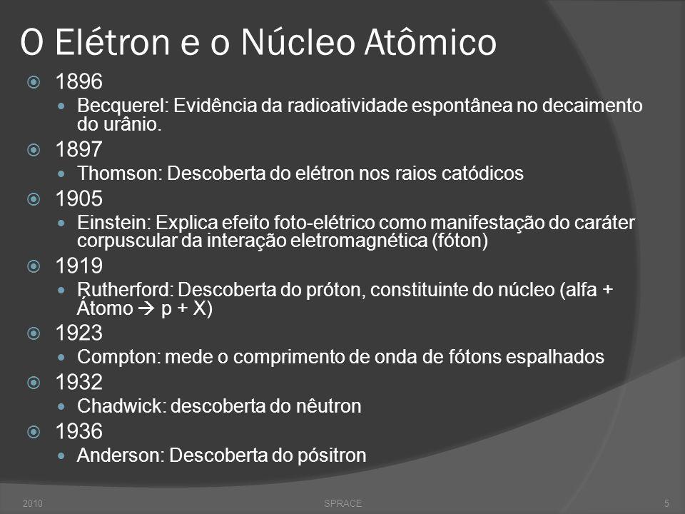 O Elétron e o Núcleo Atômico