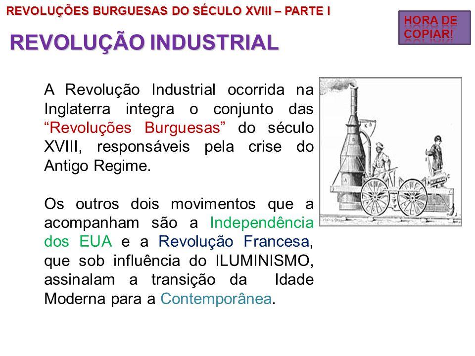 REVOLUÇÕES BURGUESAS DO SÉCULO XVIII – PARTE I