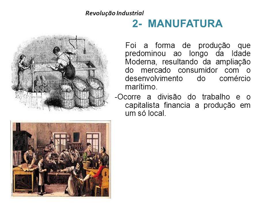 2- MANUFATURA Revolução Industrial