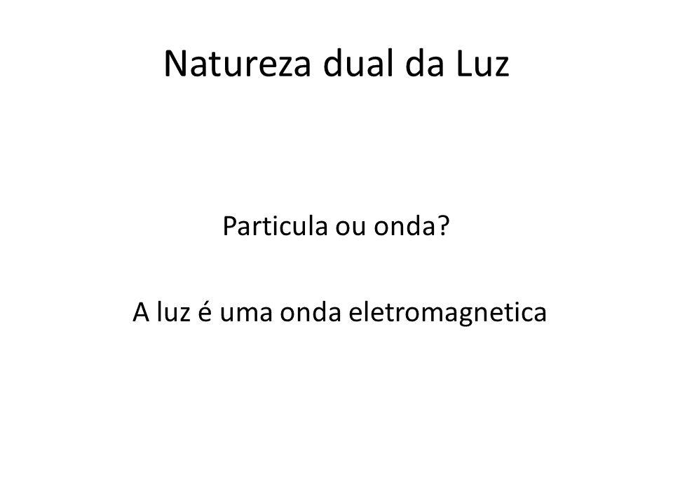 A luz é uma onda eletromagnetica