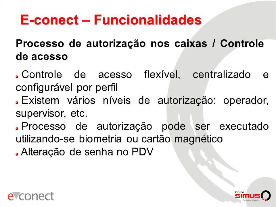 E-conect – Funcionalidades