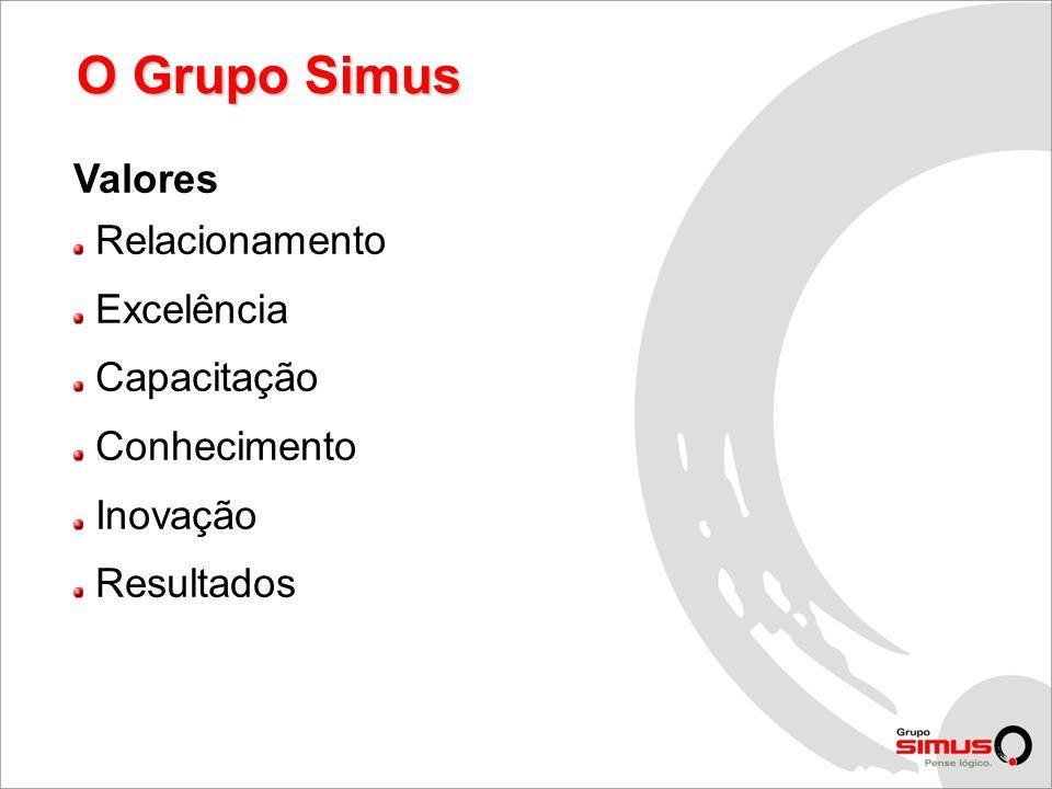 O Grupo Simus Valores Relacionamento Excelência Capacitação