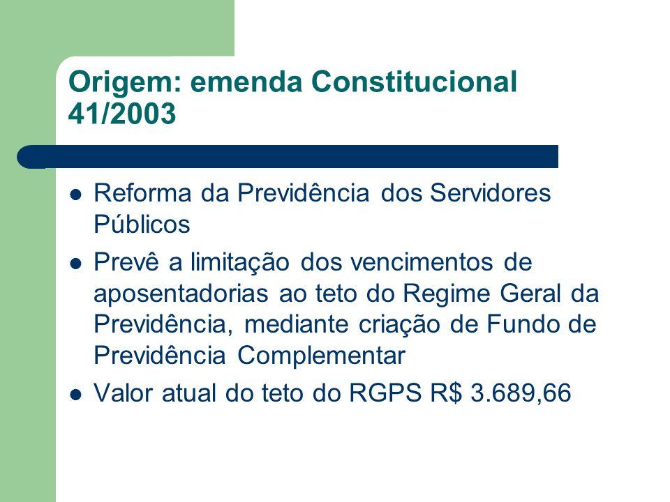 Origem: emenda Constitucional 41/2003