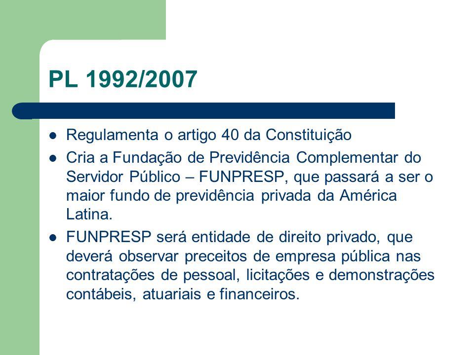 PL 1992/2007 Regulamenta o artigo 40 da Constituição
