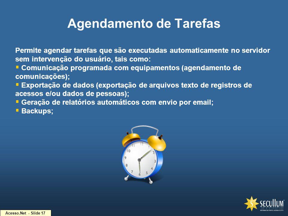 Agendamento de Tarefas