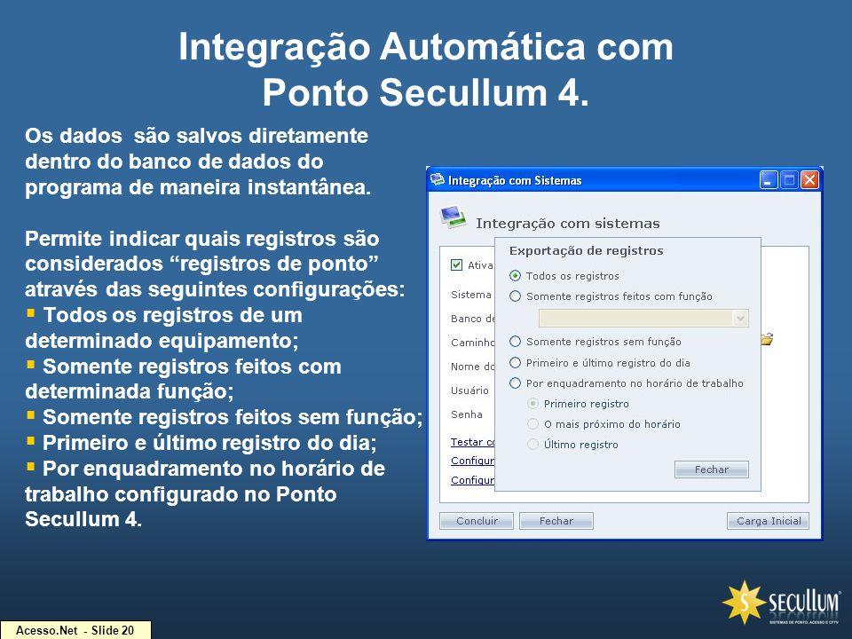 Integração Automática com Ponto Secullum 4.