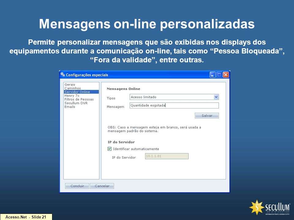 Mensagens on-line personalizadas