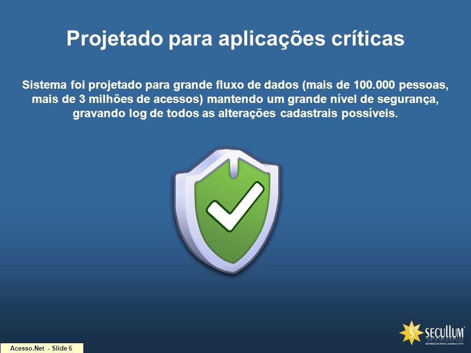 Projetado para aplicações críticas