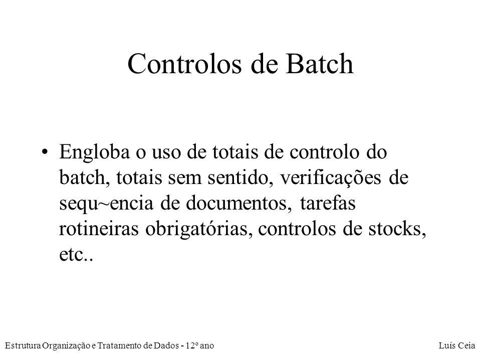Controlos de Batch