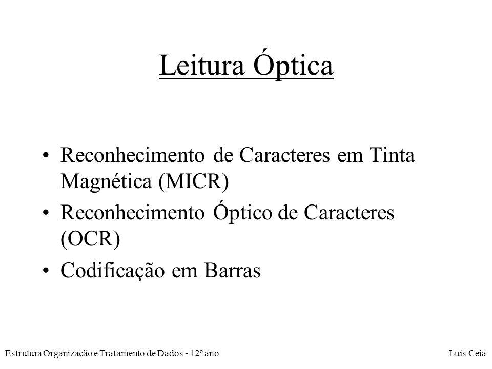 Leitura Óptica Reconhecimento de Caracteres em Tinta Magnética (MICR)