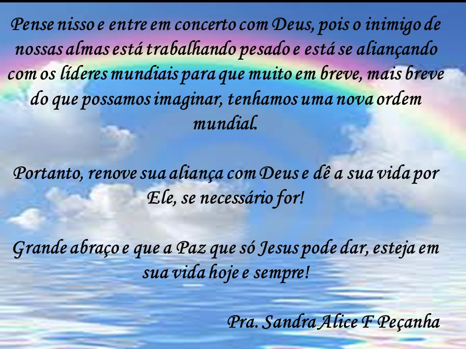 Pra. Sandra Alice F Peçanha