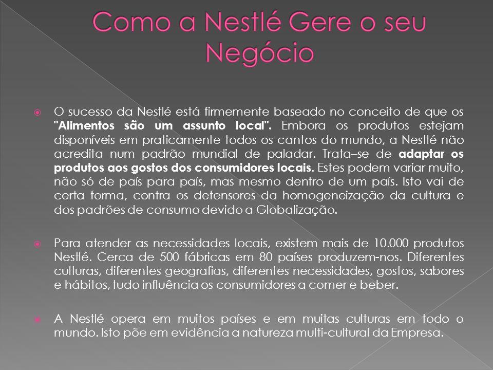 Como a Nestlé Gere o seu Negócio