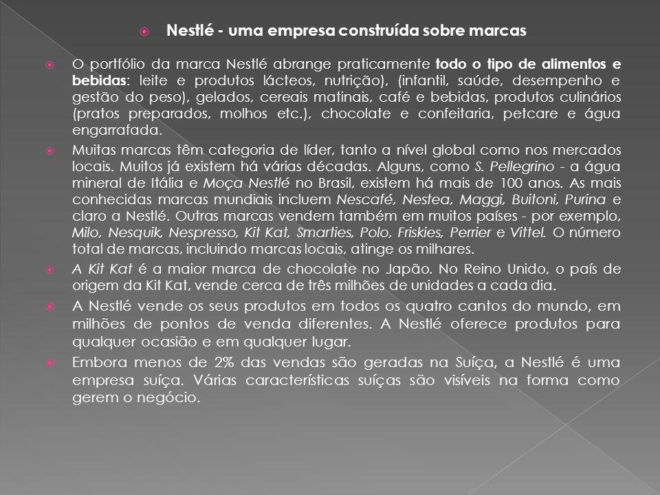 Nestlé - uma empresa construída sobre marcas