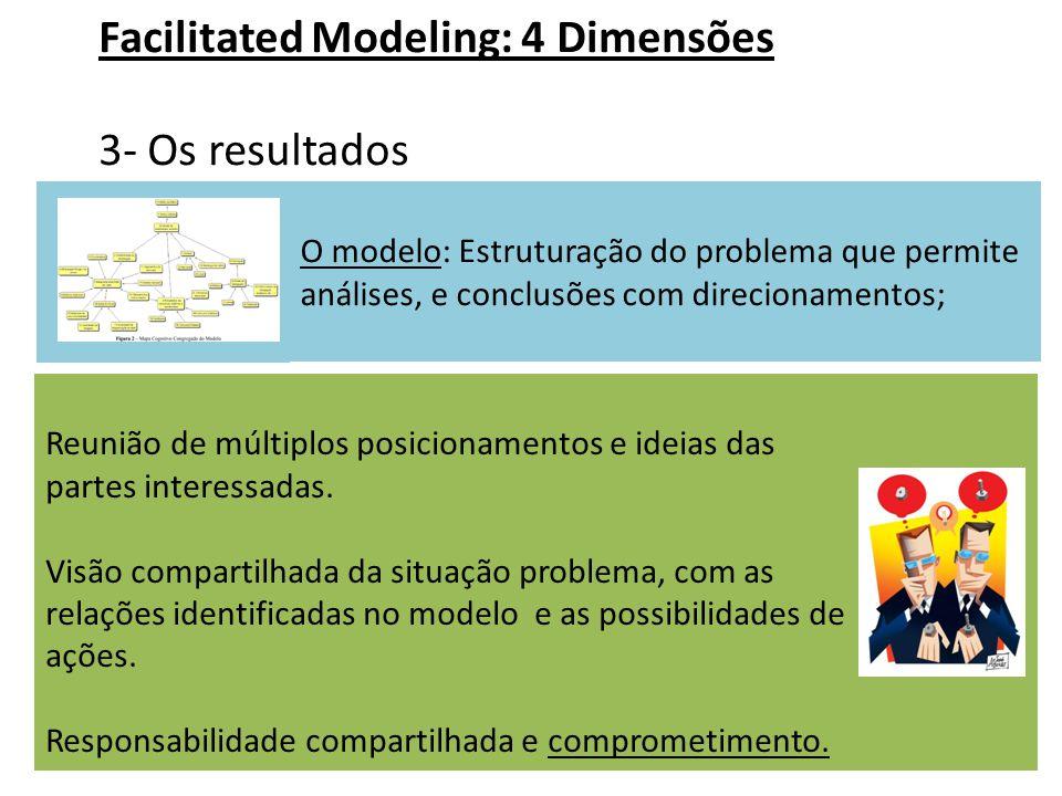 Facilitated Modeling: 4 Dimensões 3- Os resultados