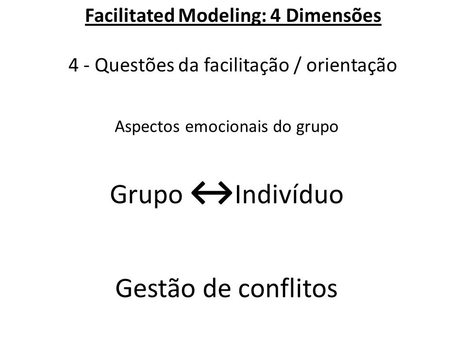 Aspectos emocionais do grupo