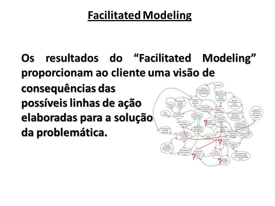 Facilitated Modeling Os resultados do Facilitated Modeling proporcionam ao cliente uma visão de.